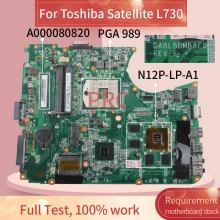 A000080820 For Toshiba Satellite L750 L755 GT525M Notebook Mainboard DABLBDMB8E0 HM65 N12P-LP-A1 DDR3 Laptop Motherboard