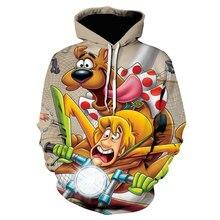 Cartoon 3d printing hoodie anime fashion hoodie casual men's clothing hooded pullover Harajuku sweatshirt cool jacket