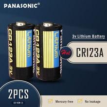 2 sztuk nowy Panasonic CR123 CR123A CR 123A 123A CR 123 A123 CR17345 16340 3V bateria litowa do aparatu latarka suche podstawowej komórki