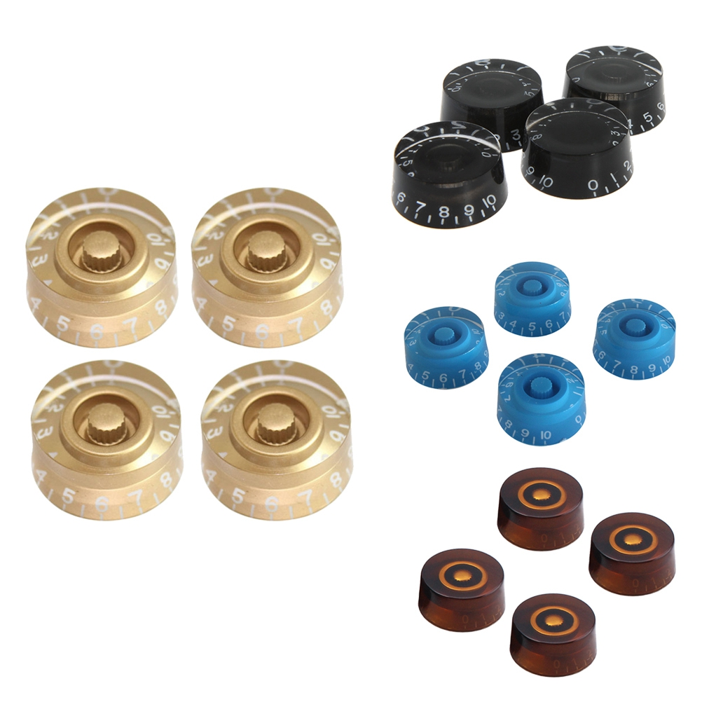 4pcs Round Guitar Knobs Speed Volume Tone Control Knobs Rotary Knobs For Gibson Epiphone Style Electric Guitar Parts Replacement