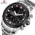 NAVIFORCE Роскошные мужские часы, полностью стальные военные наручные часы, цифровые спортивные часы, мужские водонепроницаемые кварцевые часы...