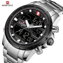 NAVIFORCE Luxury Mens Watch full steel Military WristWatch Digital Sports Watches Men Waterproof Quartz Clock relogio masculino