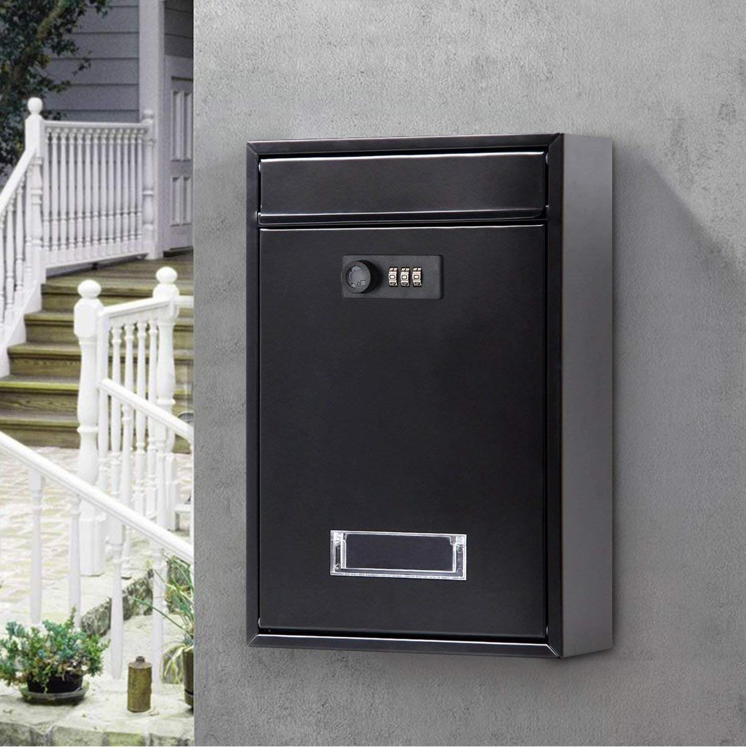 32X21X8.5CM Vintage Wall Mounted Mailbox With Combination Lock Metal Coded Lock Letterbox Post Newspaper Box F5062-0