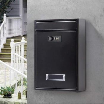 32X21X8.5CM Vintage Wall Mounted Mailbox With Combination Lock Metal Coded Lock Letterbox Post Newspaper Box F5062