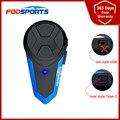 Fodsports Bt S3 Motorrad Helm Gegensprechanlage Wireless Bluetooth Headset FM Radio Wasserdicht Musik Interphone 2 Fahrer 1000M
