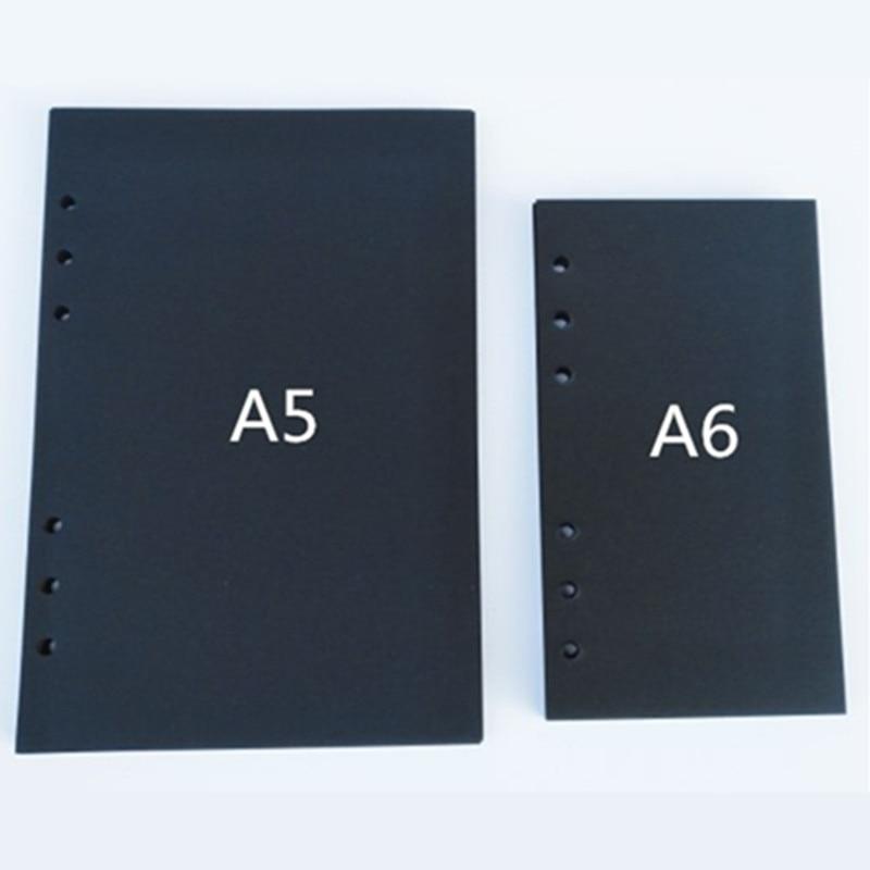 A5/A6 Blank Planner Diary Insert Refill Schedule Organiser Black 40 Sheets YLM9935
