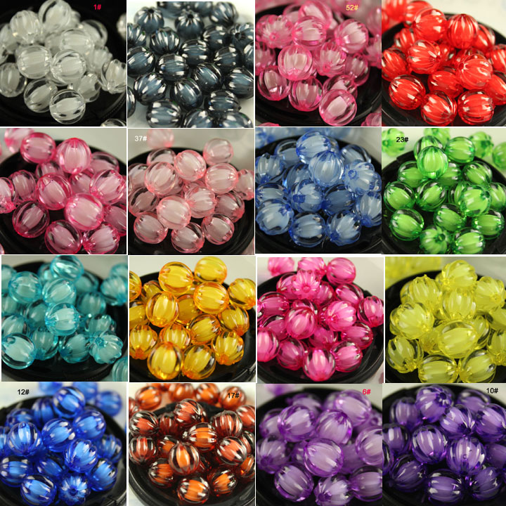 8/10/12mm Acrylic Loose spacer Pumpkin beads DIY beaded Door curtain Braided Decorations craft beads Jewelry Making Kid's Toys