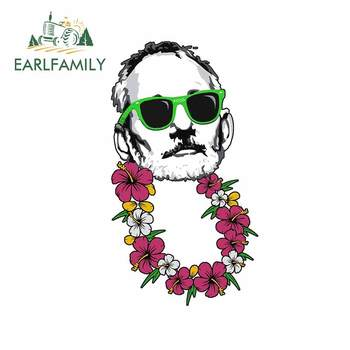 EARLFAMILY 13cm x 7.5cm for Bill Murray Hawaii Trunk Car Sticker Scratch-proof Waterproof Bumper Decal Refrigerator Car Styling image