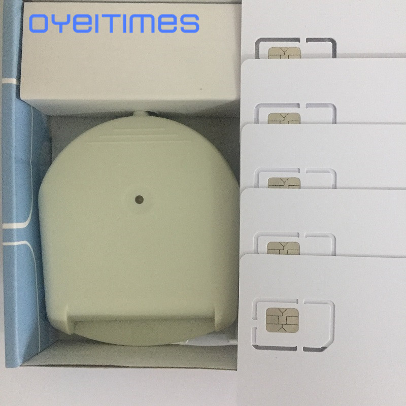 OYEITIMES 4G LTE lector de tarjetas SIM programador escritor con 5 uds LTE tarjetas SIM en blanco 1 Uds. Software de tarjeta SIM miles envío gratis