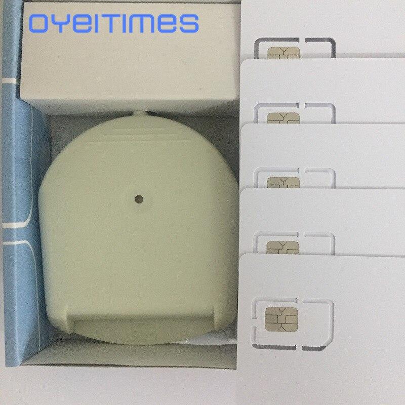 Programador lector de tarjetas SIM OYEITIMES 4G LTE con 5 uds LTE tarjetas SIM en blanco 1 Uds. Software de tarjetas SIM Milenage envío gratis