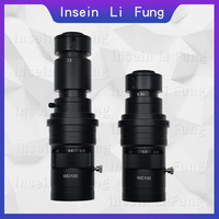 200X 500X 1000X 0.7X 5X Adjustable Magnification C Mount Zoom Lens For HDMI VGA USB Industrial Video Microscope Camera
