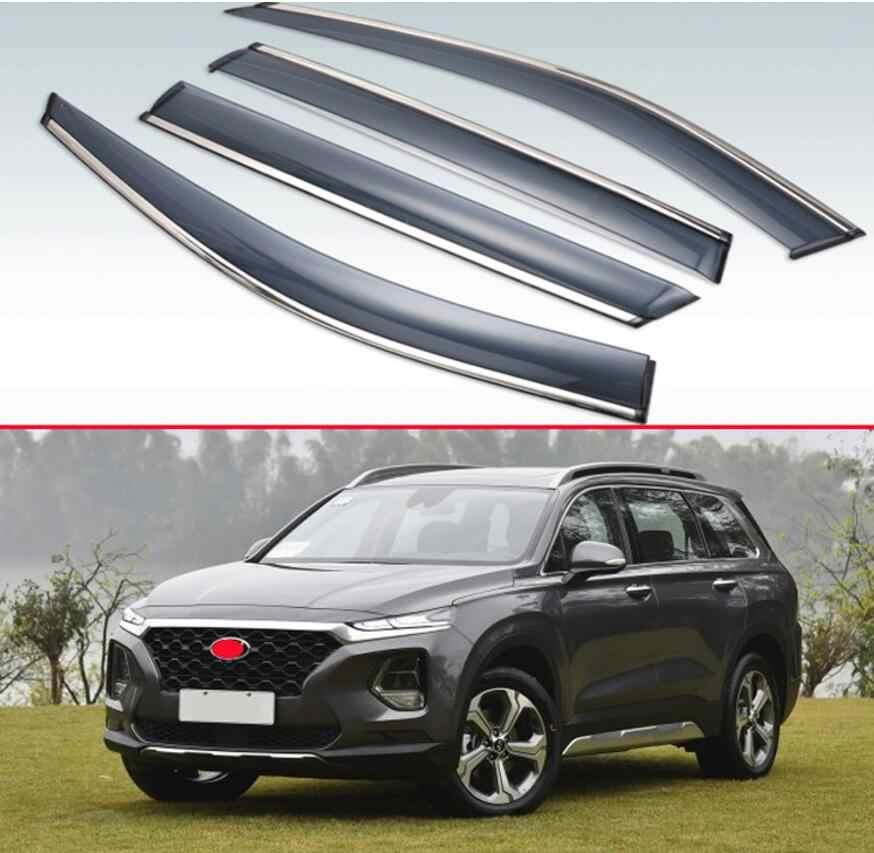YUZHONGTIAN 2019-2020 for Hyundai Santa Fe Car Side Window Wind Sun Rain Guard Deflectors Visor Vent Shades 4PCS