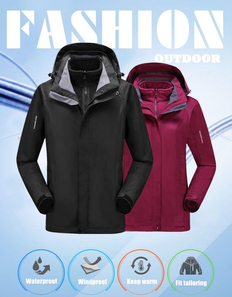 dwaterproof água velo aquecido caminhadas jaquetas inverno