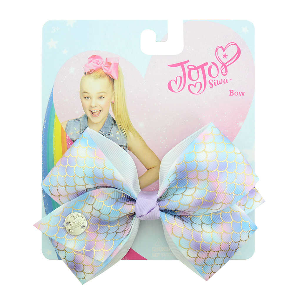 "1piece 5"" JoJo Clip Solid Print Unicorn Rainbow Scale Bows With Clips For Girls Hair Accessories Hairpins Barrette 892-J"