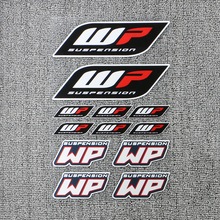 WP Moto Sticker Accessory Highly Reflective Suspension Modification decoration Motorcycle Waterproof Decal Whole SET 18CM x 27CM