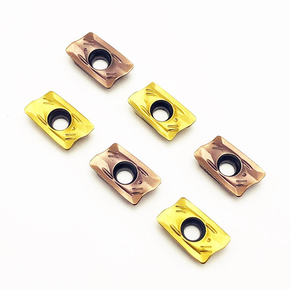 Купить с кэшбэком 10PCS Carbide insert R390 11T308M PM1025 1030 high precision metal turning lathe tool R390 11 T308 CNC part milling cutter