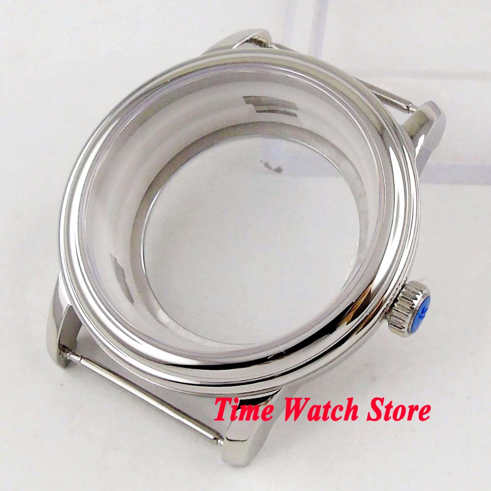 40mm polished watch case 316L stailess steel sapphire glass fit ETA 2836 MIYOTA 8215 Automatic movement C101