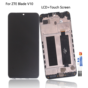 Original For ZTE Blade V10 LCD Display Touch Screen Digitizer For ZTE Blade V10 Display Assembly Screen LCD Display With Frame
