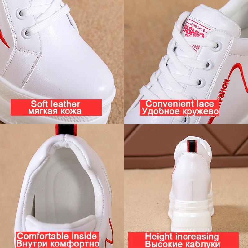 2020 Spring Summer Wedges Sneakers Women White Casual Shoes Student Hidden Heel High Platform Sneaker Women's Vulcanize Shoes