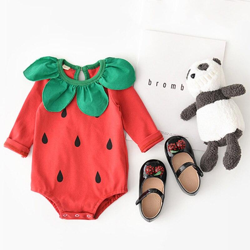 Tatlı Bebek Bebek Kız Erkek Giysileri Kış Sonbahar Yenidoğan Bebek Romper Pamuk çilek Tulum Toddler çocuk Kıyafetleri Kostüm Fant Tulumlar Aliexpress