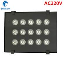 цена на 15pcs array CCTV Infrared Fill Led Light AC220V Waterproof Outdoor High Power Night Vision Illuminator Light Lamp for Cameras