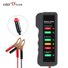 Car Battery Tester 12V Auto Checker Analyzer Display Brake Fluid Tester 12 Volts Quick Cranking Motorcycle Car Diagnostic Tools