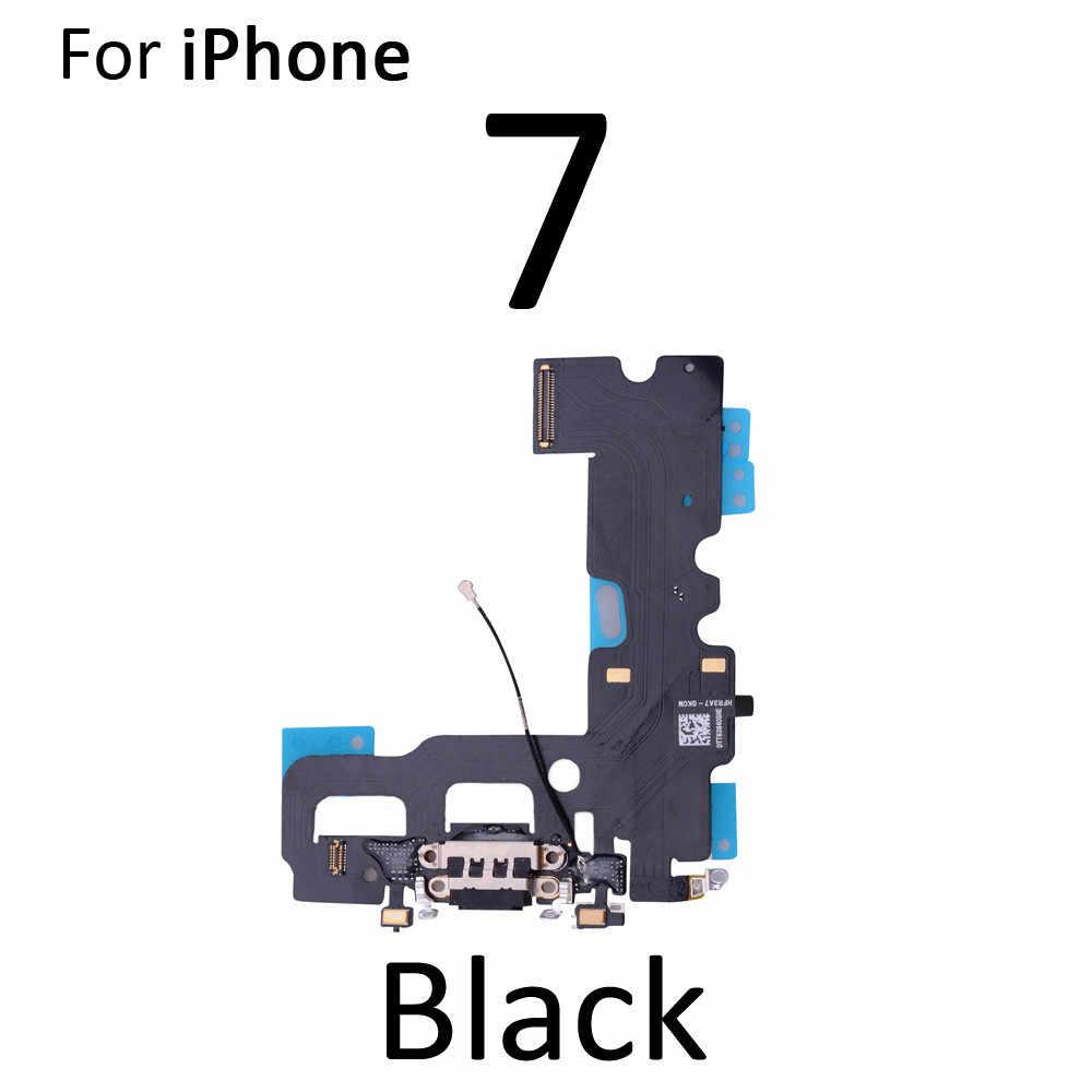 Yüksek kalite için Flex kablo şarj iPhone 5S SE 6 6S 7 8 artı USB şarj noktası Dock bağlayıcı Mic Flex kablo