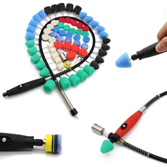 28 stücke/69 stücke Mini Polieren Maschine Auto Schönheit Detaillierung Polierer Extention Werkzeuge Polieren Kit Polieren Pad Kit