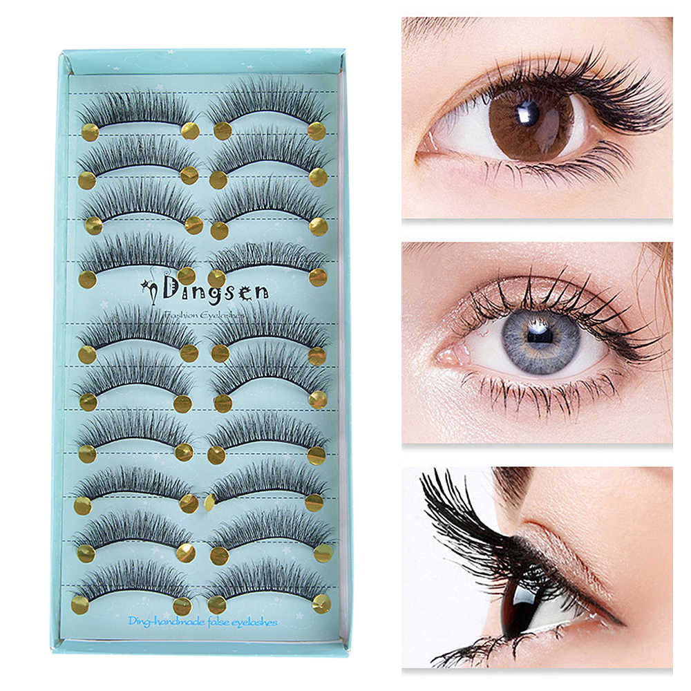 10 זוגות 3D ריסים מלאכותיים טבעי ארוך עבה מינק ריסים מלאכותיים איפור הארכת נשים עיני איפור יופי כלים