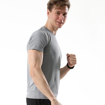 Męskie koszulki do biegania lodowy jedwab komfort szybkie suche bieganie sportowe koszulki do fitnessu męskie koszulki treningowe koszulki koszulka piłkarska tanie i dobre opinie wsryxxsc Unisex Wiosna Lato AUTUMN Winter spandex Pasuje prawda na wymiar weź swój normalny rozmiar M-3XL