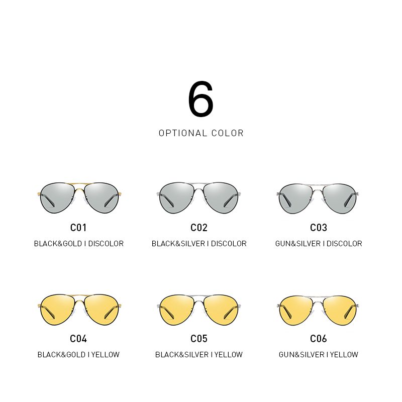 BANMAR Photochromic Sunglasses Men Polarized Chameleon Glasses Male Change Color Sun Glasses Day Night Vision Driving Eyewear in Men 39 s Sunglasses from Apparel Accessories
