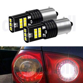 цена на 2x BA15S Car LED Bulbs for VW Passat B5 B6 ,Canbus Auto P21W 1156 LED Reverse Lights OR W5W Wedge Lights for Passat 01-10