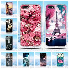 for Huawei Y5 Prime 2018 Case Silicone flower Painting Soft TPU Back Cover for Huawei Y5 2018 Phone Bags for Honor 7S / play 7(China)