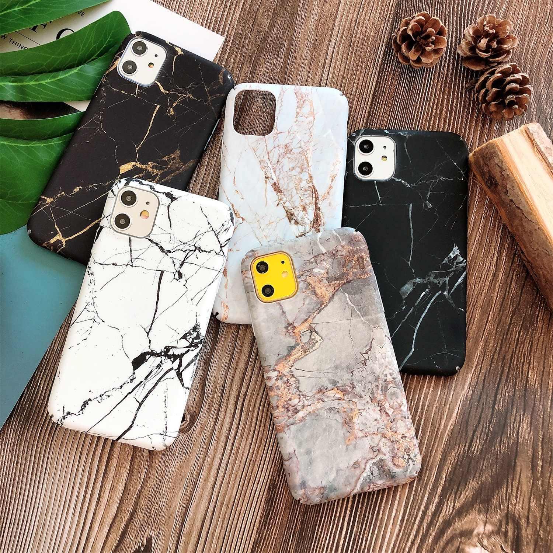 حافظة هاتف من الرخام من LISCN لهواتف iPhone XR 6 6sPlus 11 11Pro Max 7Plus 8Plus Xs Max 7 8 X Xs PC حافظة حماية مضادة للسقوط