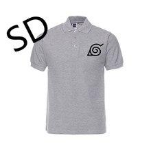 Прямая поставка Наруто Коноха лист символ Поло рубашка Мужская Аниме camisa polo masculina летние топы Harajuku одежда размера плюс рубашка