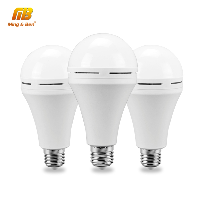 LED <font><b>Emergency</b></font> <font><b>Light</b></font> 110V <font><b>220V</b></font> 7W 9W 12W Cold White LED Bulb Rechargeable Battery Lighting Lamp For Outdoor Bombillas Flashlight image