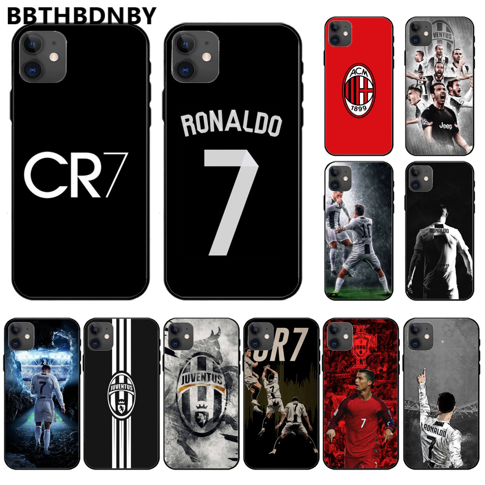 Ristiano Ronaldo CR7 TPU Lembut Silicone Ponsel Case PENUTUP UNTUK Iphone 11 Pro Max X Xs Xr 7 8 plus 6 6S 5 5S 5se Shell