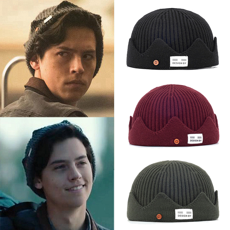 New Jughead Jones Riverdale Cosplay Crown Design Beanies Hat Women Beanies Winter Hat Men Knitted Hat Casual Hat Docker Cap