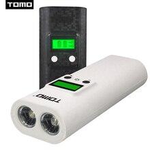 Зарядное устройство для литий ионных батарей TOMO K2 18650, чехол для внешнего аккумулятора «сделай сам», коробка для хранения с двумя USB портами, ЖК дисплеем и светодиодным фонариком