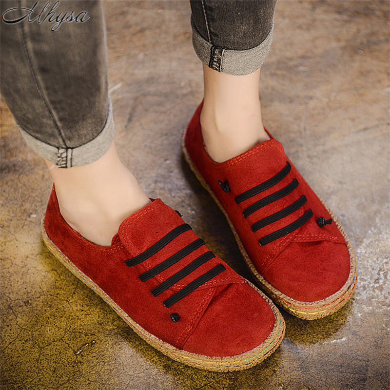 2020 New Spring Women Shoes Flat Shoes New 2020 Casual Shoes Fashion Comfortable Suede Lightweight Women Flat Shoes Sneakers 42