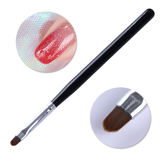 1Pc Pink Nail Art UV Gel Brush Pen With Cap Nail Art  Tools for UV Gel Nail Polish 4