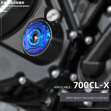 Spirit Beast Retro Motorcycle Engine Oil Filter Guard cover Crankcase Cap Screw cover Accessories For CFMOTO 700 CLX CL X