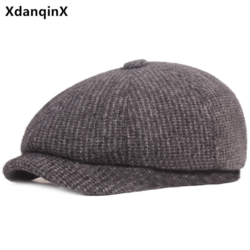 Winter Men's Warm Hat Thicken Thermal Cotton Berets Men Earmuffs Caps Casual Brands Dad's Hat Elderly Ear Protection Winter Hats