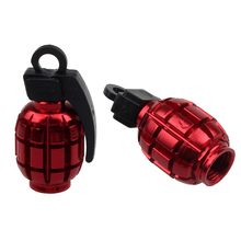 2PCS Fashion bicycle accessories Grenade Alloy Valve Cap adapter Dust Covers Bike Bicycle MTB BMX Car RD tapon valvula bici