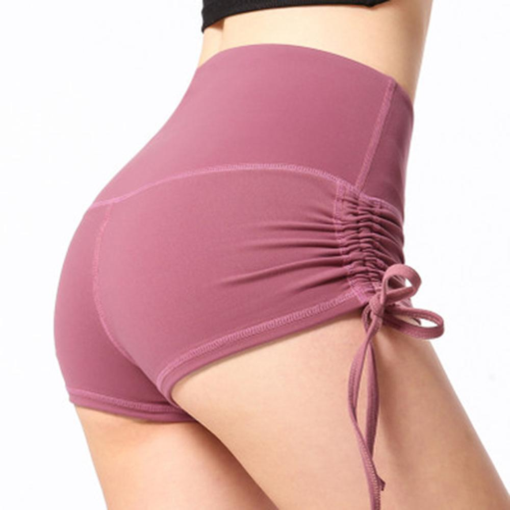 Summer Women Sexy Slim Sports Shorts Drawstring Design Peach Shorts Women Gym Short Pantalon Corto Deporte Mujer