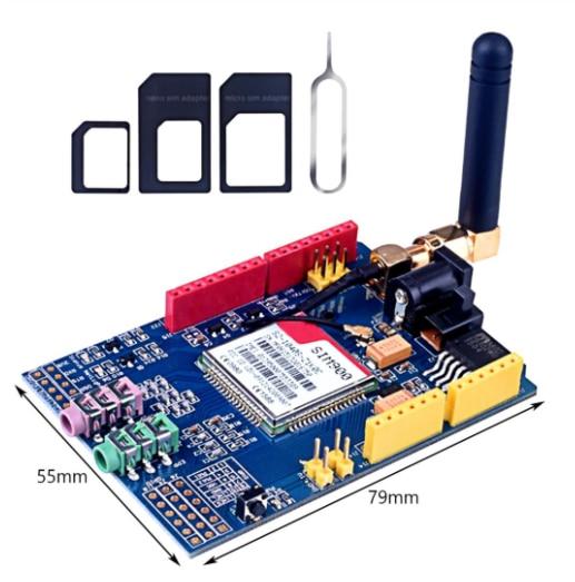 Sim900 gprs/gsm placa de desenvolvimento escudo quad-band módulo para arduino compatível