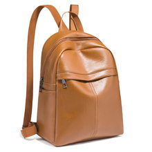 Vintage Leather Women Backpack Female Small Black Brown Back Pack Ladies Trend Wild Simple Backbag Fashionable Women's Bags 2020(China)