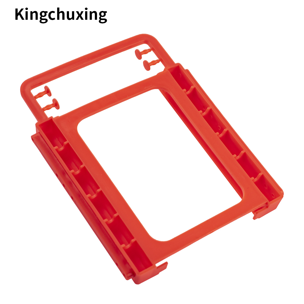 2.5'' to <font><b>3.5</b></font>'' inch <font><b>SSD</b></font> HHD Case Hard Drive Disk Holder Mounting Plastic <font><b>Adapter</b></font> Bracket for Desktop PC by Kingchuxing image