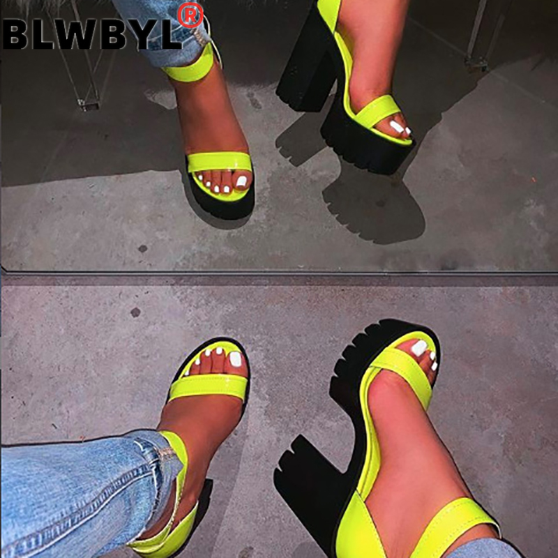 2020 New Fashion Super High Heel Women Sandals  Handmade Comfortable Solid Color Plus Size Women Sandals Zapatos De Mujer