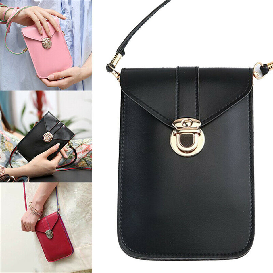 Touchable PU Leather Change Bag Wallet Gift Touches Screen Mobile Phone Women Bag Shoulder Strap Women Bag For Phone Handbags